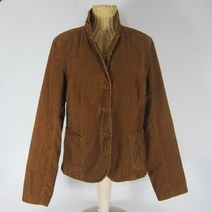 J. Crew Large Brown Corduroy Blazer Jacket